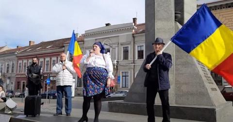 Diana Șoșoacă a protestat împotriva restricțiilor la Cluj