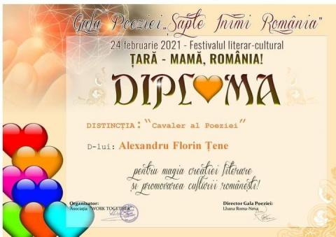 """În Italia poetului Al.Florin Țene i s-a atribut titlul de """"Cavaler al Poeziei"""""""