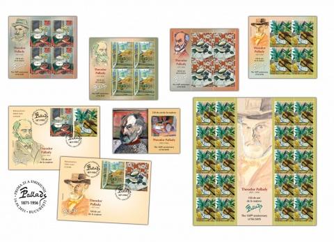 Romfilatelia introduce în circulație miercuri o nouă emisiune de mărci poștale dedicată pictorului Theodor Pallady