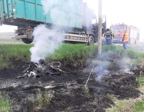 Motociclist a decedat într-un accident petrecut miercuri la ieşirea din localitatea Căpuşu Mare