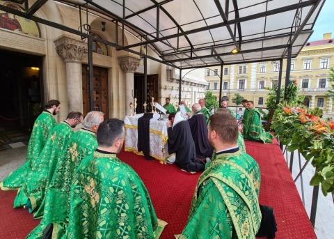 Vecernia plecării genunchilor.Catedrala Mitropolitană din Cluj-Napoca