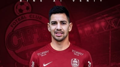 Clubul CFR Cluj a anuntat luni transferul mijlocasului argentinian Jonathan Rodriguez