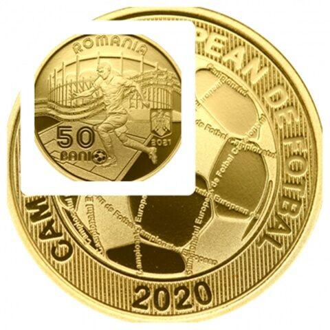 """BNR lansează o monedă de alamă cu tema """"Campionatul European de Fotbal 2020"""""""