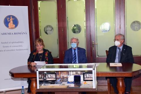 Academia Română mulțumește Irinei Cajal și lui Aurel Vainer pentru paticiparea la un simpozion dedicat lui N. Paulescu