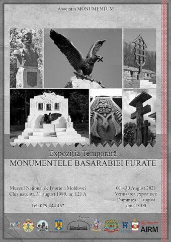 """Expoziția """"MONUMENTELE BASARABIEI FURATE"""" va fi vernisată duminică"""