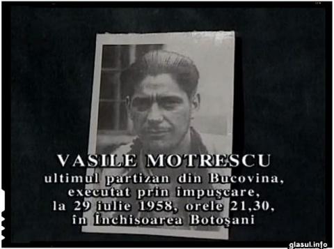 29 iulie 1958. Vasile Motrescu este executat în închisoarea Botoșani