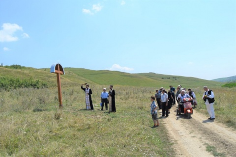Mai multe cruci ridicate la Berchieșu sfințite, în memoria eroilor români uciși la Revoluția de la 1848