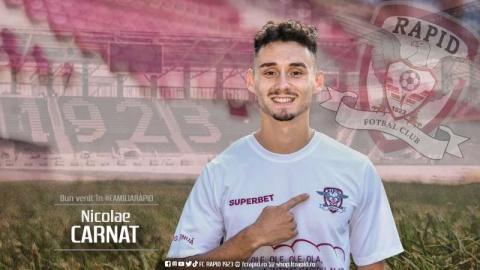 FC Rapid Bucureşti l-a transferat, miercuri, pe Nicolae Carnat, campion în sezonul trecut cu CFR Cluj
