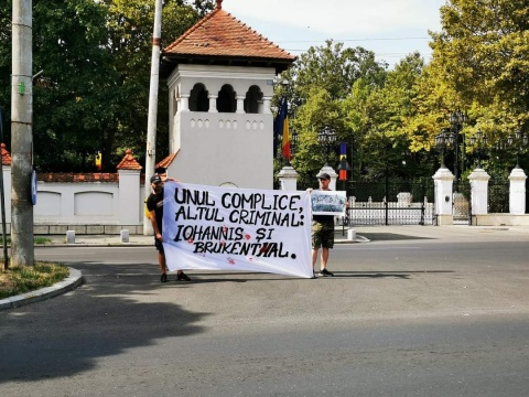 Protest la Cotroceni împotriva dezvelirii statuii baronului Brukenthal