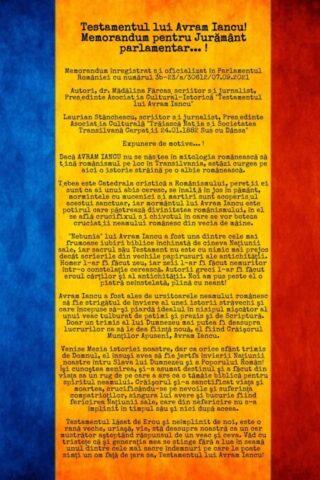 Poetul Laurean Stănchescu propune: Parlamentarii vor jura pe testamentul lui Avram Iancu…. !